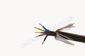 5core 10.0mm BS6724 XLPE/LSF/SWA/LSF 0.6-1Kv