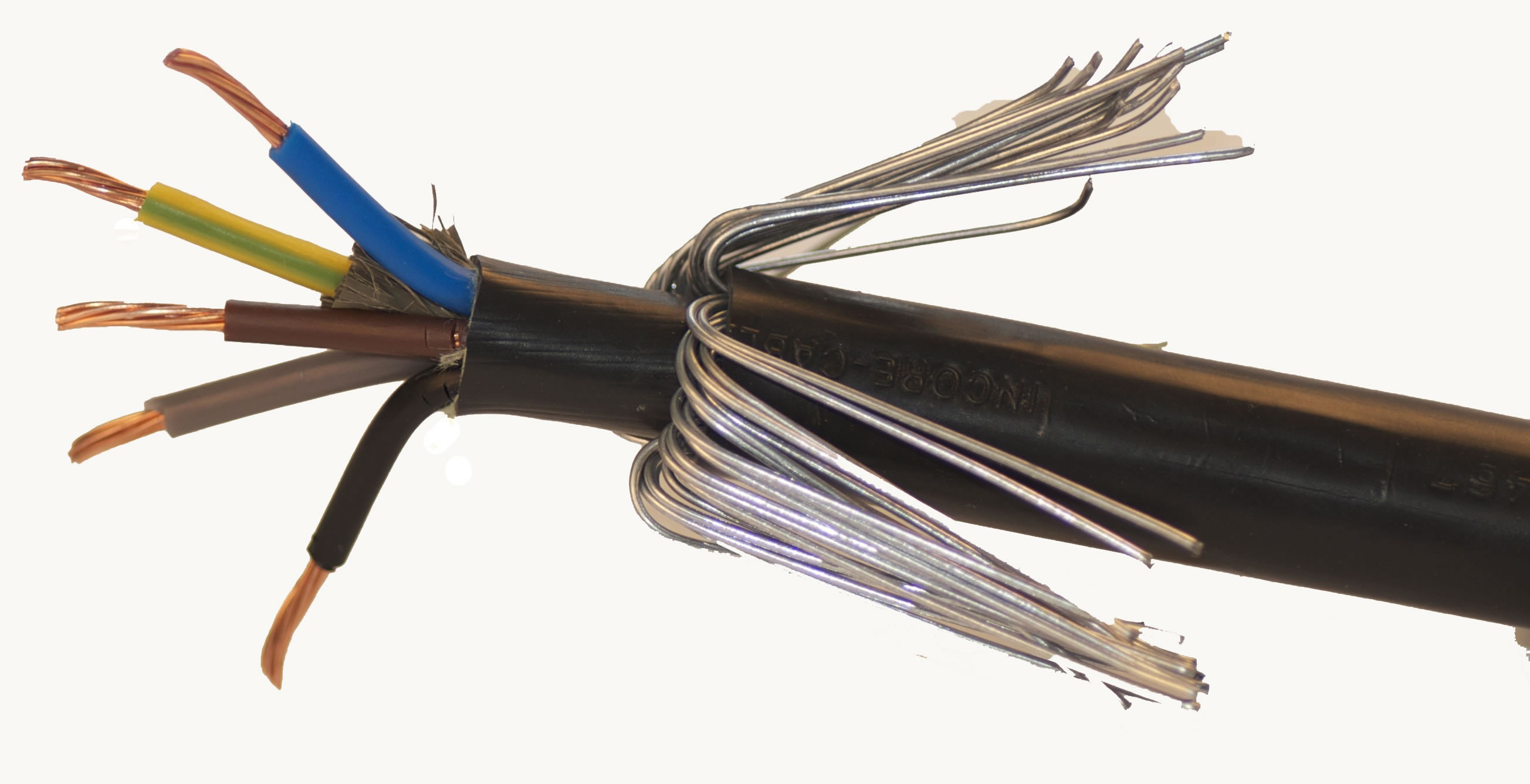 Outdoor Armored Cable Wiring : Core mm bs xlpe pvc swa kv